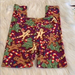 LuLaRoe Tween Christmas Leggings in EUC